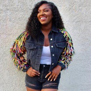 Jackets & Blazers - Party Girl Sequin Denim Jacket